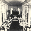 Gathering for First Communion, early 20th century.